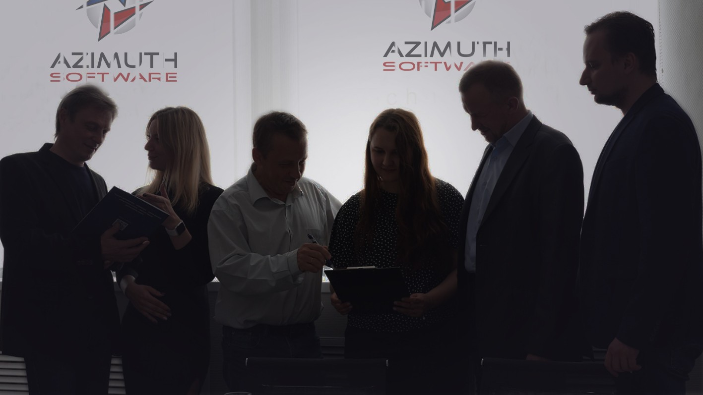 Meeting with customers at Azimuth Soft office