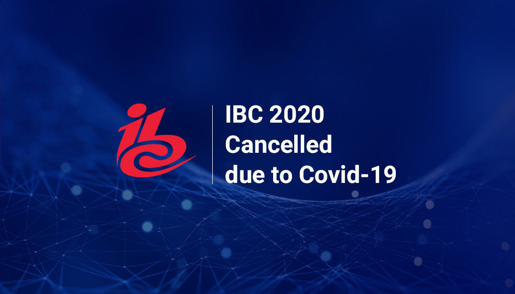 IBC logo with the explanation of the cancellation of the event