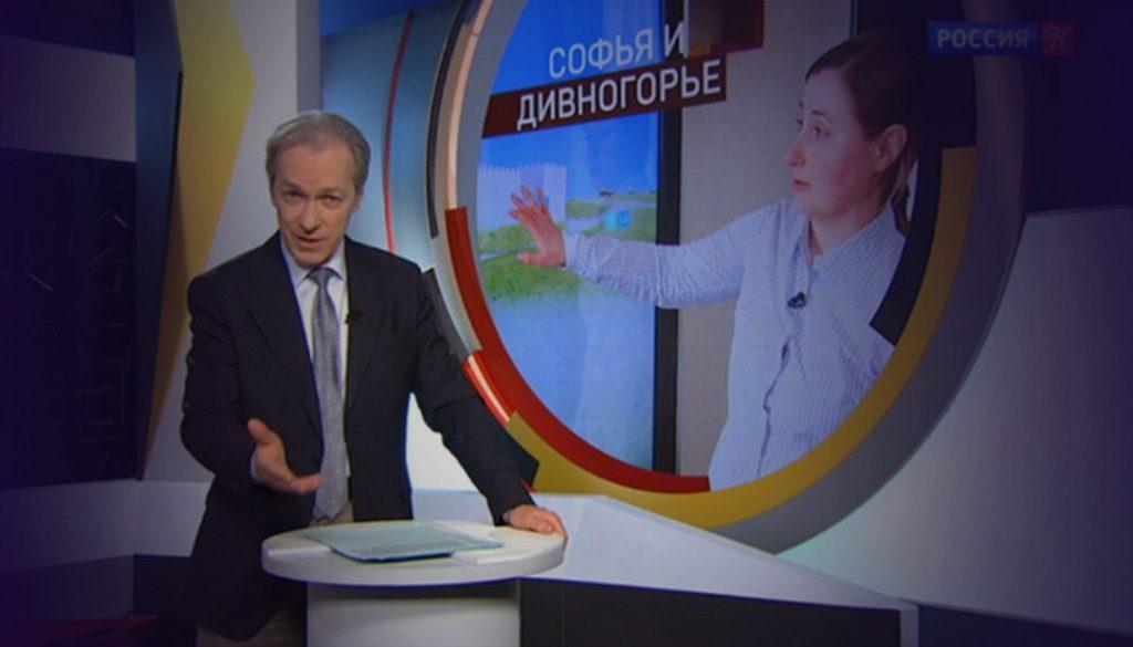 TV host from Kultura TV channel