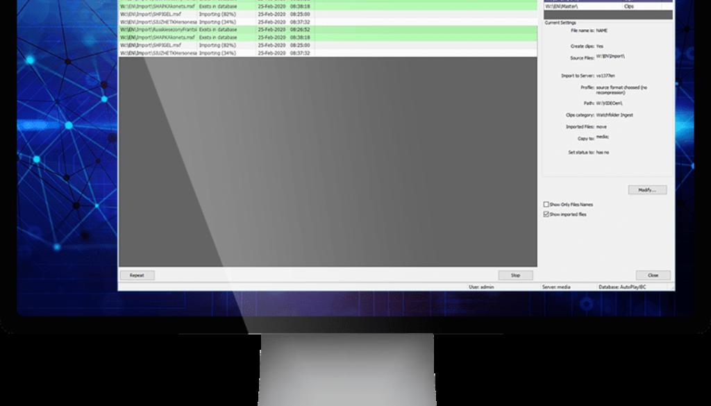 User interface FileImporter